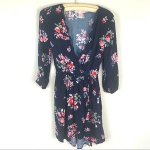 Romantic Band Of Gypsies Floral Faux Wrap Dress